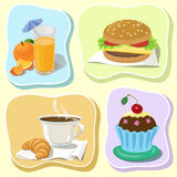 Cafe icons Royalty Free Stock Photos
