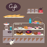 Cafe illustration Stock Image