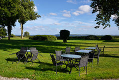 Free Cafe In A Garden By A Lake Denmark Stock Image - 40099991