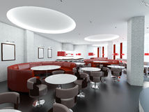 Cafe interior. The stylish interior of a modern empty cafe Stock Image