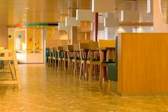 Cafe Interior. Interior of fast food cafe on a cruise ship Stock Image