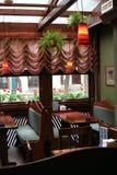 Cafe interior. Cafe brown interior Stock Photos