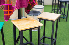 Cafe interior - bar chairs outdoors Stock Photography