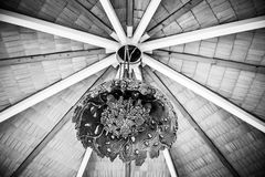 Cafe interior ceiling lamp Stock Images