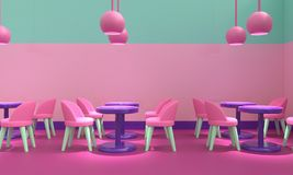 Cafe interior. 3d rendering royalty free stock image