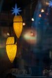 Cafe interior in evening Prague Stock Image