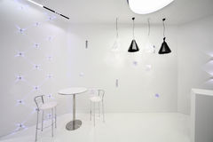 Cafe interior in minimalist style Stock Photos