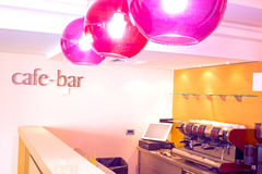 Cafe interior. The interior of the new cafe bar ready to open, photography Royalty Free Stock Photography