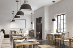 Cafe interior with a poster Stock Image