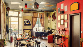 Cafe Interior Retro Design Stock Photography