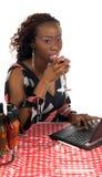 cafe internetu Zdjęcia Royalty Free