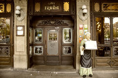 Cafe Iruña in Pamplona,Spain Royalty Free Stock Photography