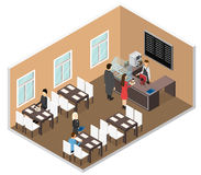 Cafe Isometric View. Vector Stock Photos