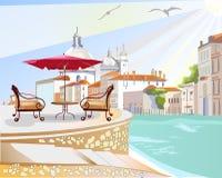 cafe italy Vektor Illustrationer