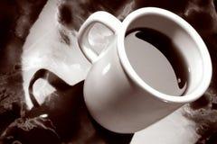 cafe kawa lady marmur kubki Obrazy Stock