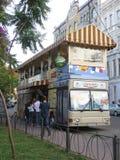 Cafe. Kiev 2014 cafe-bus Royalty Free Stock Image