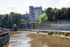 Cafe and kilkenny castle riverside walk Stock Images