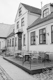 A cafe in Klaipeda royalty free stock photography