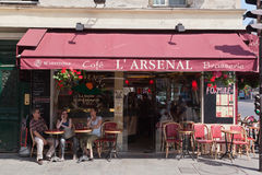 Cafe L´Arsenal in Paris Royalty Free Stock Photos