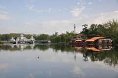 Cafe on the lake Royalty Free Stock Photography