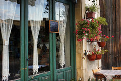 Cafe in Larnaca during Summe Royalty Free Stock Photography