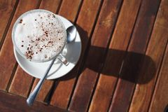 Cafe latte from above Royalty Free Stock Image