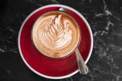 Cafe latte art Royalty Free Stock Photography