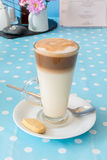Cafe Latte with biscuit. Cafe Latte with a shortbread biscuit Royalty Free Stock Photo