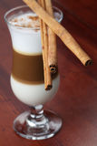 Cafe latte with cinnamon Stock Photography