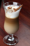 Cafe latte with cinnamon Stock Image