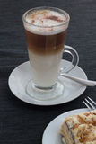 Cafe latte. Royalty Free Stock Photography