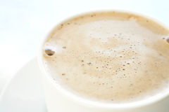 Cafe latte in coffee cup Royalty Free Stock Photo