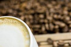 Cafe latte setting Stock Image