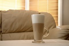 Cafe Latte in a tall glass Royalty Free Stock Image
