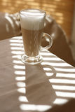 Cafe Latte in a tall glass Stock Photo