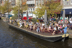 Cafe in Leiden, Holland Royalty Free Stock Photos