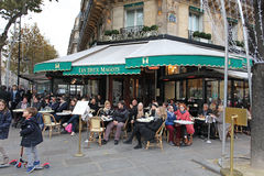 Cafe Les Deux Magots, Paris Royalty Free Stock Image