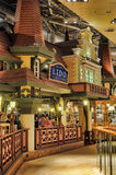 Cafe Lido Tallinn. Cafe interior with turrets and houses Royalty Free Stock Photos