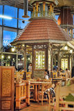 Cafe Lido Tallinn. Cafe interior with turrets and houses Stock Photos