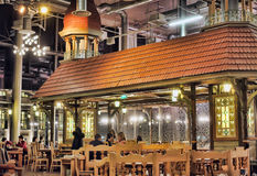 Cafe Lido Tallinn. Cafe interior with turrets and houses Royalty Free Stock Photo
