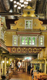 Cafe Lido Tallinn. Cafe interior with turrets and houses Royalty Free Stock Image