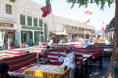 Cafe life in Doha Stock Photos