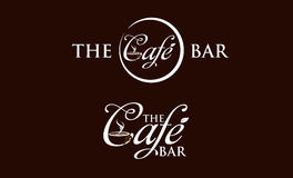 Cafe Logo. The cafe logo with dark chocolate background in vector file stock illustration
