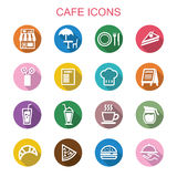 Cafe long shadow icons Stock Photography