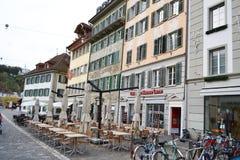Cafe in Lucerne, Switzerland. Stock Image
