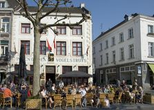 Cafe in Maastricht Stock Photography