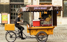 Cafe made on a bike Royalty Free Stock Photo