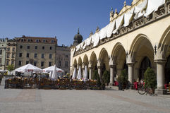 Cafe main square Krakow Royalty Free Stock Photo