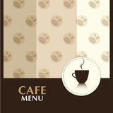 Cafe Menu Stock Image