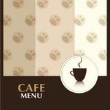 Cafe Menu. Retro Cafe menu background design Stock Image